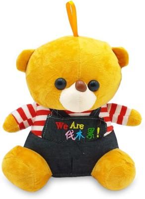CUDDLES Cute Looking Teddy Bear   30 cm Brown, Blue CUDDLES Soft Toys