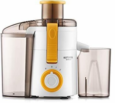 Kutchina Novello Centrifugal Juicer 450 watt 450 Juicer(White & Yellow, 1 Jar)