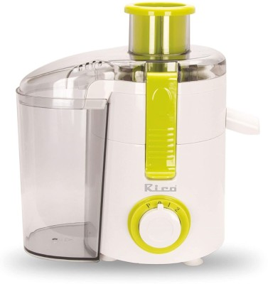 Rico Quick Juice Japanese Technology Electric Juicer - JE1902 Green 400 Juicer(Green)
