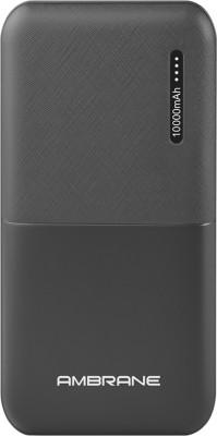 Ambrane 10000 mAh Power Bank  Fast Charging, 12 W  Black, Lithium Polymer Ambrane Power Banks