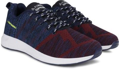 Adrenex Running Shoes For Men(Blue, Burgundy)