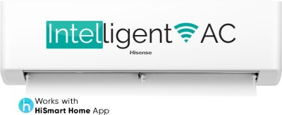 Hisense 1.5 Ton 3 Star Split Inverter Smart AC with Wi-fi Connect - White(AS-18TW4RGSKA00, Copper Condenser)