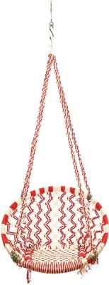 Faburaa Hammock Swing Jhula Swing Chair Red Cotton Swing(Red)