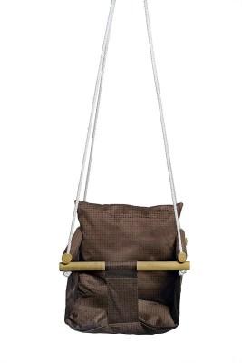 Swingzy Indoor and Outdoor Baby Swing Chair Cotton Swing(Brown)