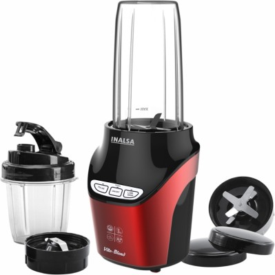 Inalsa Nutri Blender Vito Blend 1000watt with 2 Tritan jars,1 Sipper Lid 1000 Juicer Mixer Grinder(Red, Black, 2 Jars)