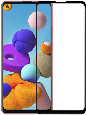Express Buy Edge To Edge Tempered Glass for Samsung Galaxy A21s(Pack of 1)