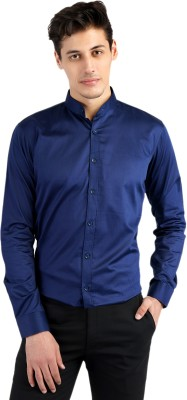 Dolvia Men Solid Casual Blue Shirt