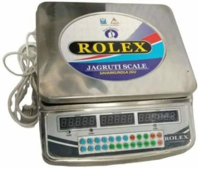 JAGRUTI SCALE Rolex Table top counting Weight machine 30Kg, 250mm*300mm, with Poll Display, stainless Steel body Weighing Scale(Silver)