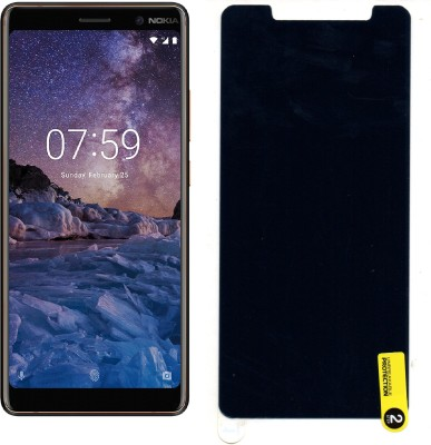 MOBIE ATTIRE Edge To Edge Tempered Glass for Nokia 7 Plus(Pack of 1)