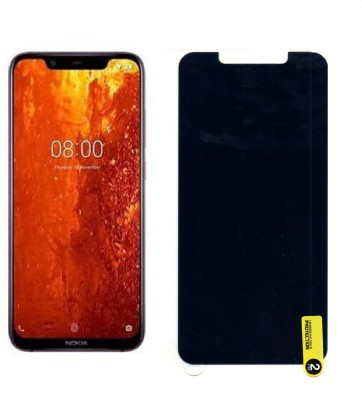 MOBIE ATTIRE Edge To Edge Tempered Glass for NOKIA 8.1(Pack of 1)