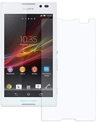 Shell Guard Tempered Glass Guard for Sony Xperia C(Pack of 2)