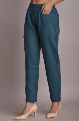 hkf Regular Fit Women Light Blue Trousers