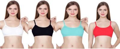 FnS Women, Girls Bralette Lightly Padded Bra(Light Blue, Red, White, Black)