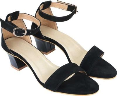 SHOESTHAN Women Black Heels