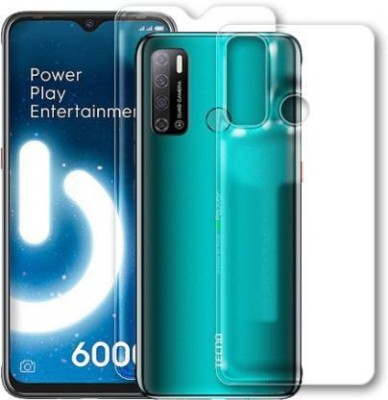 FIRST IMPRESSION Front and Back Tempered Glass for Tecno Spark Power 2(Pack of 2)
