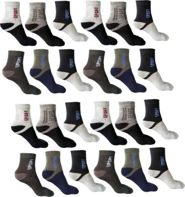 YOUR SHOPPING STORE Men Printed Ankle Length(Pack of 12)