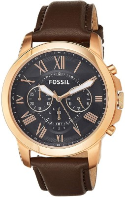 Fossil FS5068 Grant Black Analog Watch    For Men   Women
