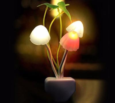 Manogyam Mushroom light autometic sensor night lamp Night Lamp(13 cm, Multicolor)