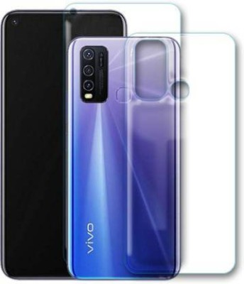 FIRST IMPRESSION Front and Back Tempered Glass for Vivo Y50(Pack of 2)