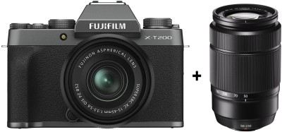 Fujifilm X Series X-T200 Mirrorless Camera Body with 15-45 mm + 50-230 mm Dual Lens Kit(Grey)