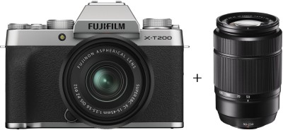 Fujifilm X Series X-T200 Mirrorless Camera Body with 15-45 mm + 50-230 mm Dual Lens Kit(Silver)