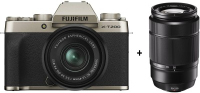 Fujifilm X Series X-T200 Mirrorless Camera Body with 15-45 mm + 50-230 mm Dual Lens Kit(Gold)