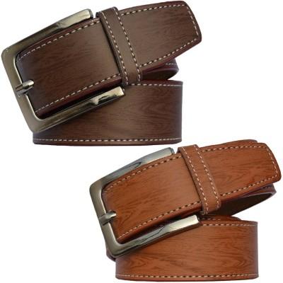 Fedrigo Men Tan, Brown Artificial Leather Belt