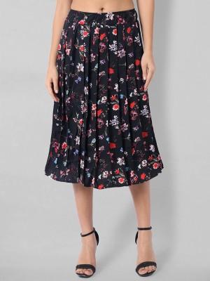 Kannan Floral Print Women Pleated Multicolor Skirt