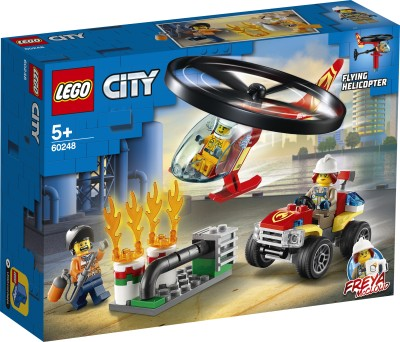 LEGO 60248 Fire Helicopter Response Multicolor LEGO Blocks   Building Sets