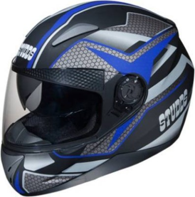Studds SHIFTER D8 MATT BLACK N1 BLUE Motorbike Helmet(Multicolor)
