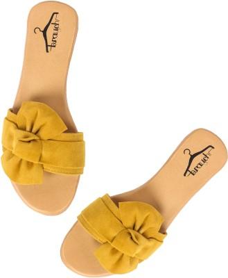 Brauch Women Yellow Flats