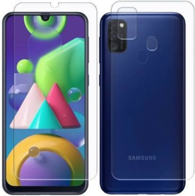FINCH Front and Back Screen Guard for Samsung Galaxy M30S, Samsung Galaxy M21(Pack of 2)
