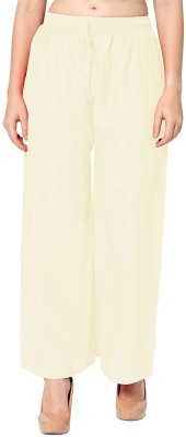 SriSaras Relaxed Women Cream Trousers