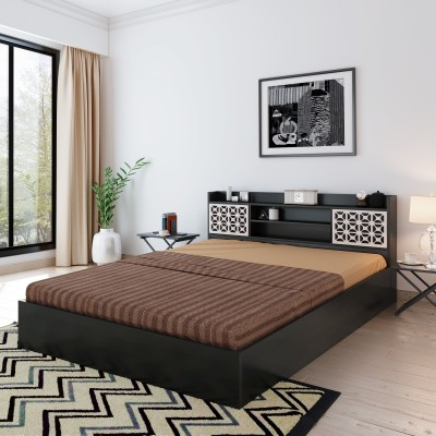 Bharat Lifestyle Brazil Engineered Wood King Box Bed(Finish Color -  Black)