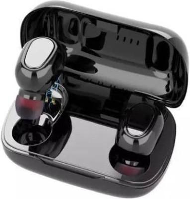 VEKIN TWS L21 Wireless dual ear High Bass Bluetooth Headset with Mic Bluetooth Headset(Black, True Wireless)