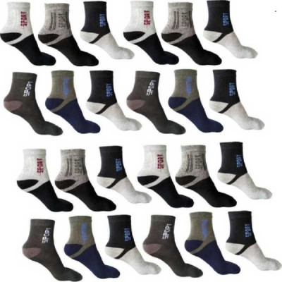 APPALON Men & Women Color Block Ankle Length(Pack of 12)