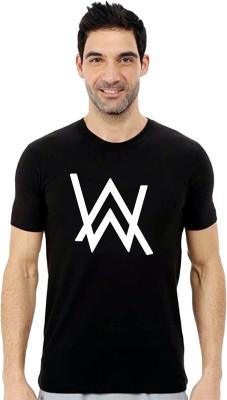 Tee town Graphic Print Men Round Neck Black T-Shirt
