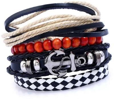 Jewelgenics Leather Bracelet Set(Pack of 4)