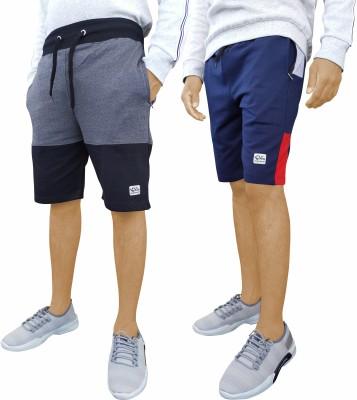 GYRFALCON Solid Men Multicolor Regular Shorts