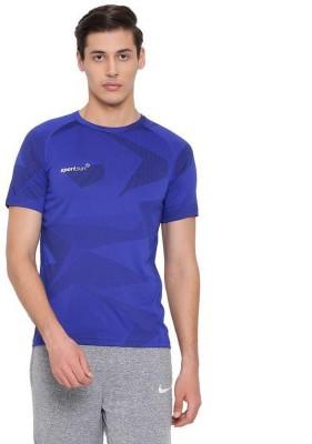 Sport Sun Printed Men Round Neck Blue T-Shirt
