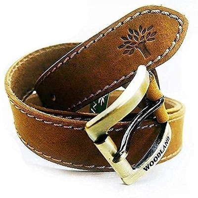 WoodIand Men Casual, Formal Brown Genuine Leather Belt
