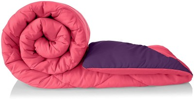 Relaxfeel Solid Double Comforter(Microfiber, pink and purple)