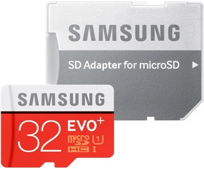 SAMSUNG EVO Plus 32 GB MicroSD Card Class 10 95 MB/s Memory Card