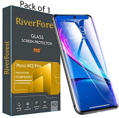 RiverForest Edge To Edge Tempered Glass for Poco M2 Pro, Mi Redmi Note 9 Pro, Mi Redmi Note 9 Pro Max(Pack of 1)