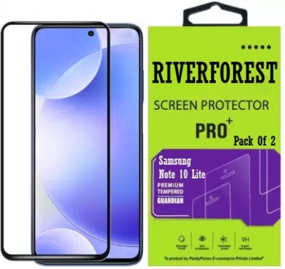 RiverForest Edge To Edge Tempered Glass for Samsung Galaxy Note10 Lite(Pack of 2)
