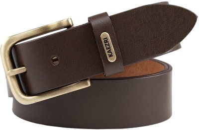 kaezri Men Evening, Party, Formal, Casual Brown Genuine Leather Belt