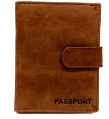 BLISSATURN Men Brown Genuine Leather Card Holder(5 Card Slots)
