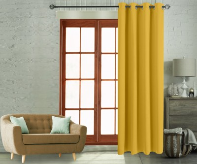 Flipkart Perfect Homes 270 CM (9 ft) Polyester Long Door Curtain Single Curtain(Solid, Yellow)