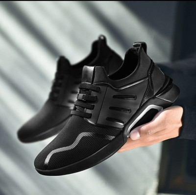 EZDEZARIO ZF Klub Men's Lace up Walking Shoes Running Shoes Lightweight Breathable Mesh Fashion Sneakers / Designer party Wear For Men (black new look wise ) For Men(Black)