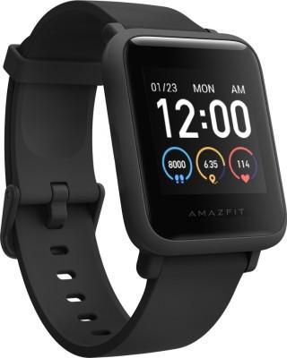 Huami Amazfit Bip S Lite Smartwatch(Black Strap, Regular)
